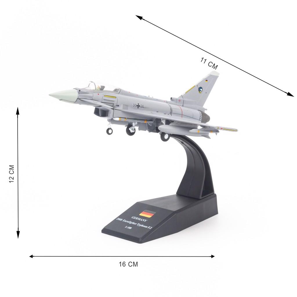 Mô hình máy bay quân sự Eurofighter Typhoon EF2000 Germany 1:100