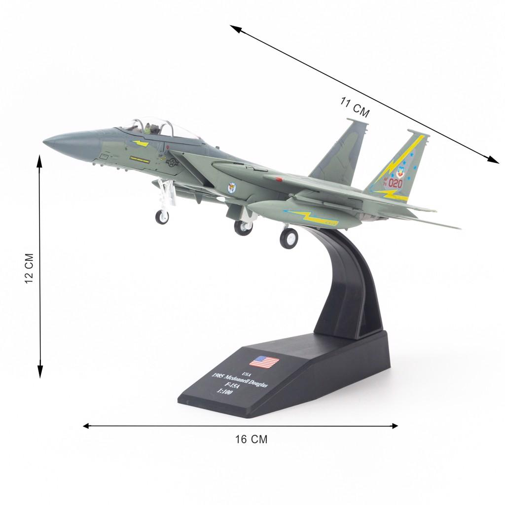 Mô hình máy bay quân sự McDonnell Douglas F-15A Eagle USA 1:100