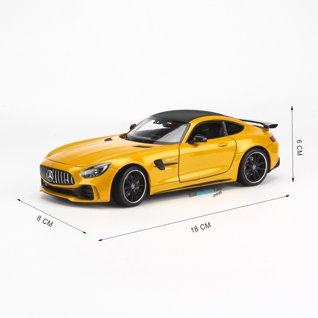 Mô hình xe Mercedes-Benz AMG GTR Red, White, Yellow, Green 1:24 Welly