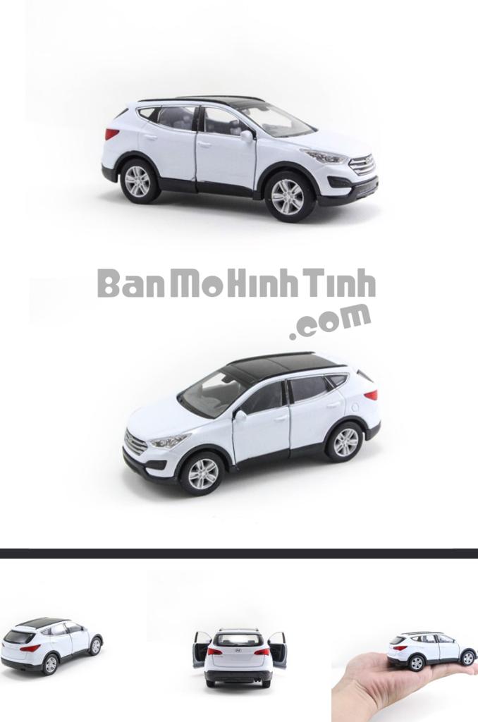 mô hình xe ô tô hyundai santafe 1:36 welly white