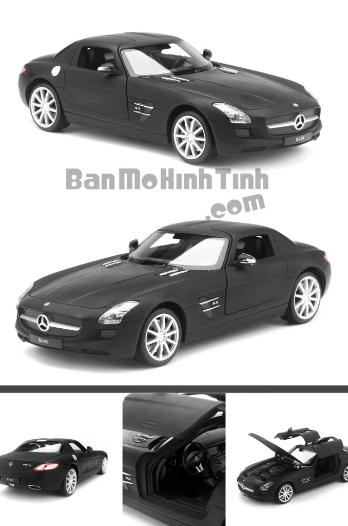 mô hình xe cổ siêu sang mercedes-benz sls 1:24 welly