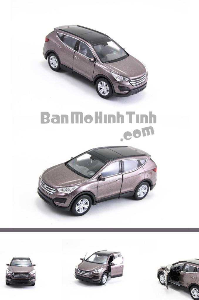 mô hình xe ô tô hyundai santafe 1:36 welly brown