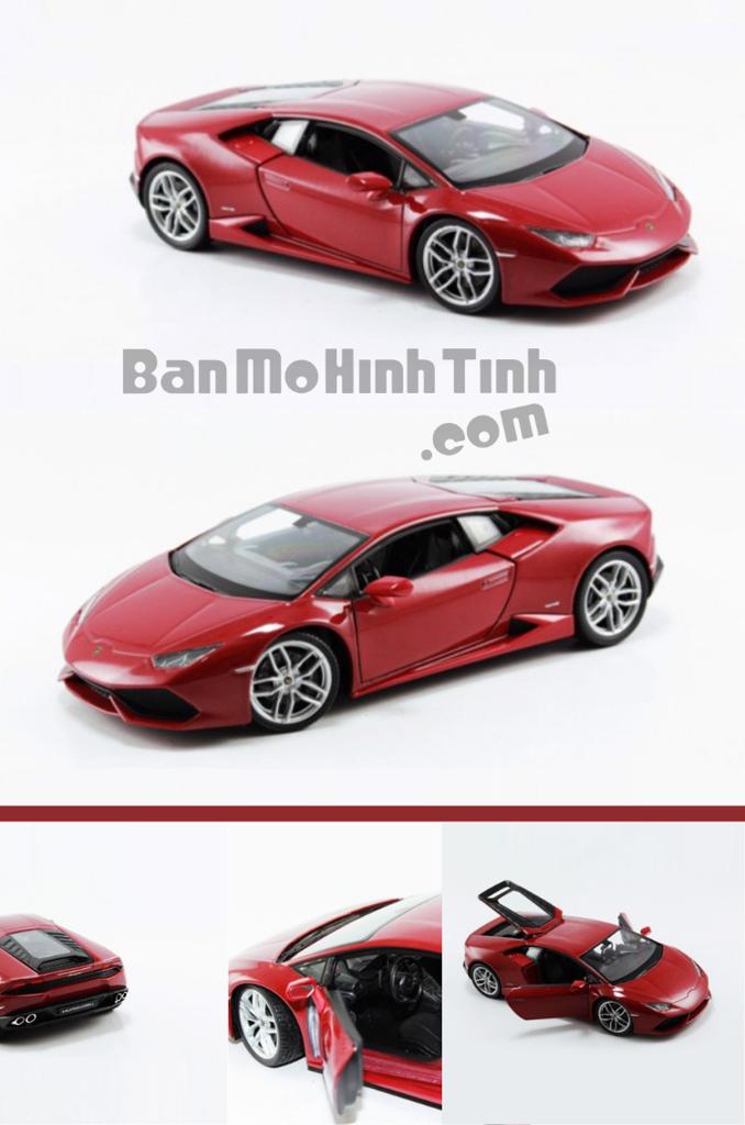 mô hình siêu xe lamborghini huracan lp610-4 1:24 welly red