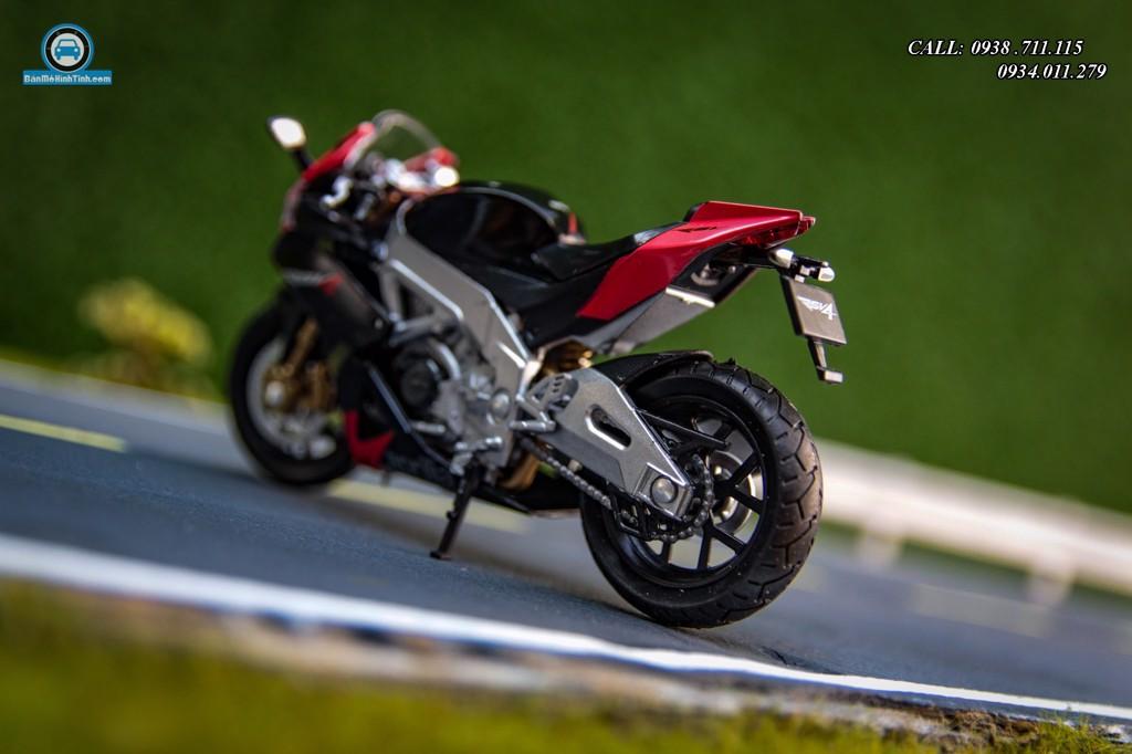 Mô hình xe mô tô Aprilia RSV 4R Black 1:18 Welly