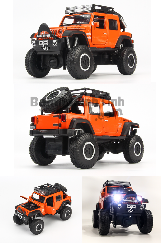 Mô hình xe Jeep Cross Country Orange 1:32 Proswon