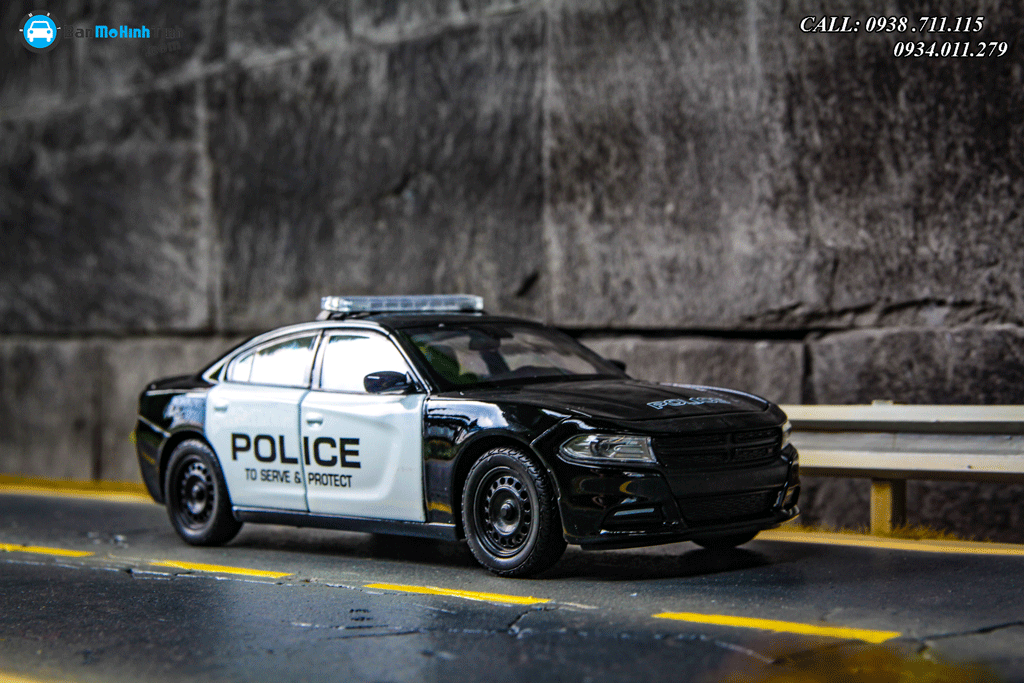 Mô hình xe Dodge Charger R/T 2016 Police 1:24 Welly