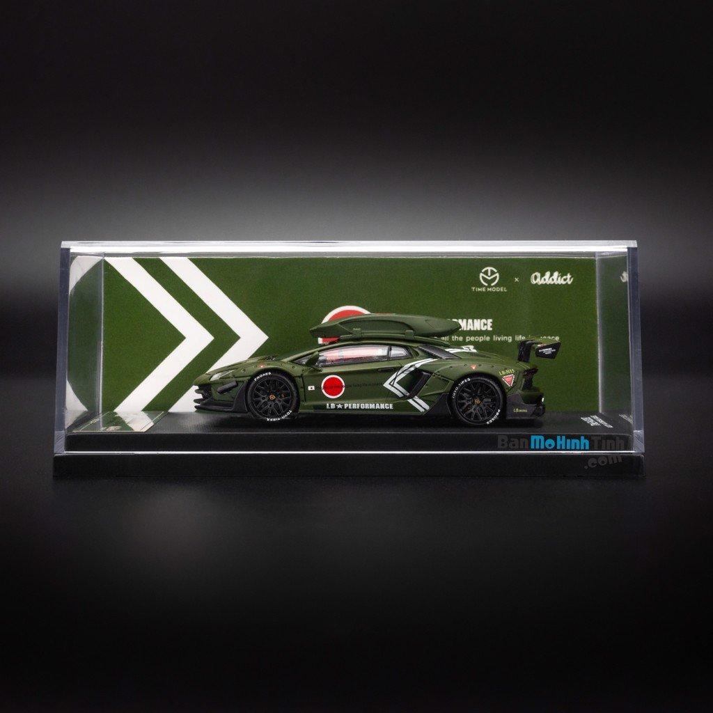 Mô hình xe Lamborghini Aventador LP700-4 1:64 Time Model - Addict Matte Green