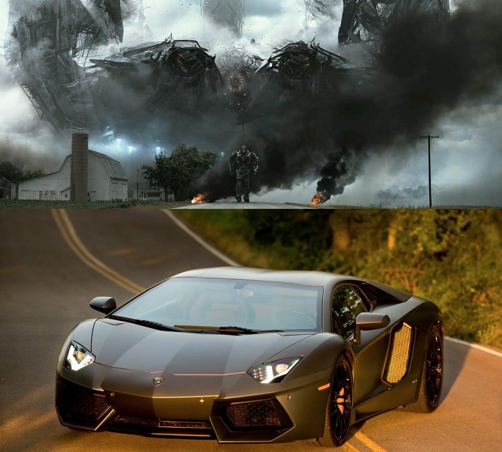 Lamborghini Aventador LP700-4 trong phim Transformers 4 Age of Extinction