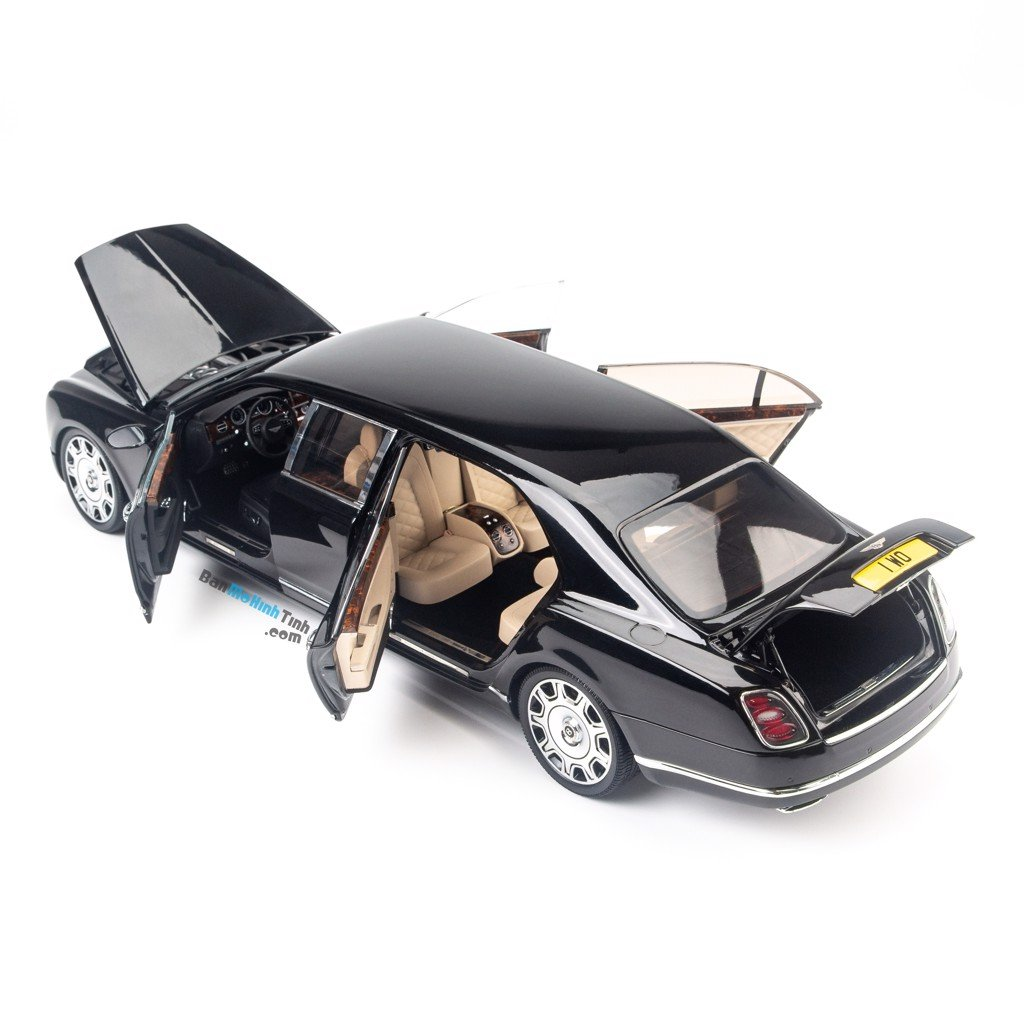 Mô hình xe sang Bentley Mulsanne Grand Limousine by Mulliner 1:18 Almost Real