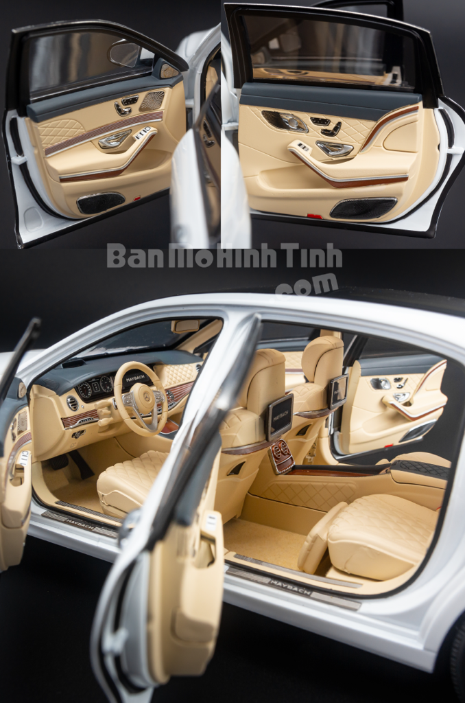 Mô hình xe sang Mercedes-Benz Maybach S650 2019 1:18 Almost Real Diamond White