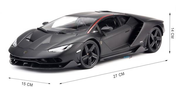 Mô hình xe Lamborghini Centenario LP770-4 Matte Black 1:18 Maisto