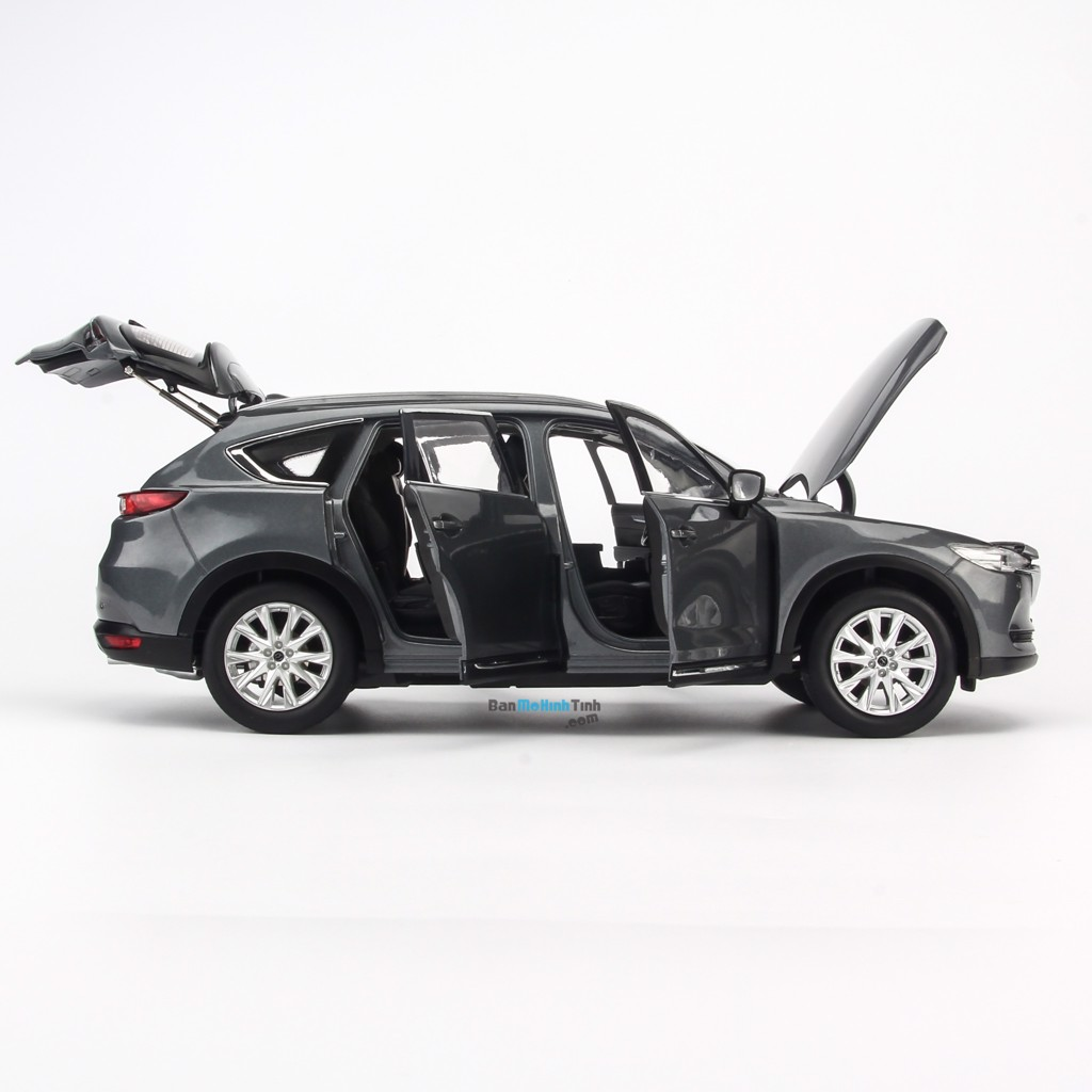 Mô hình xe Mazda CX-8 2019 Grey 1:18 Paudi