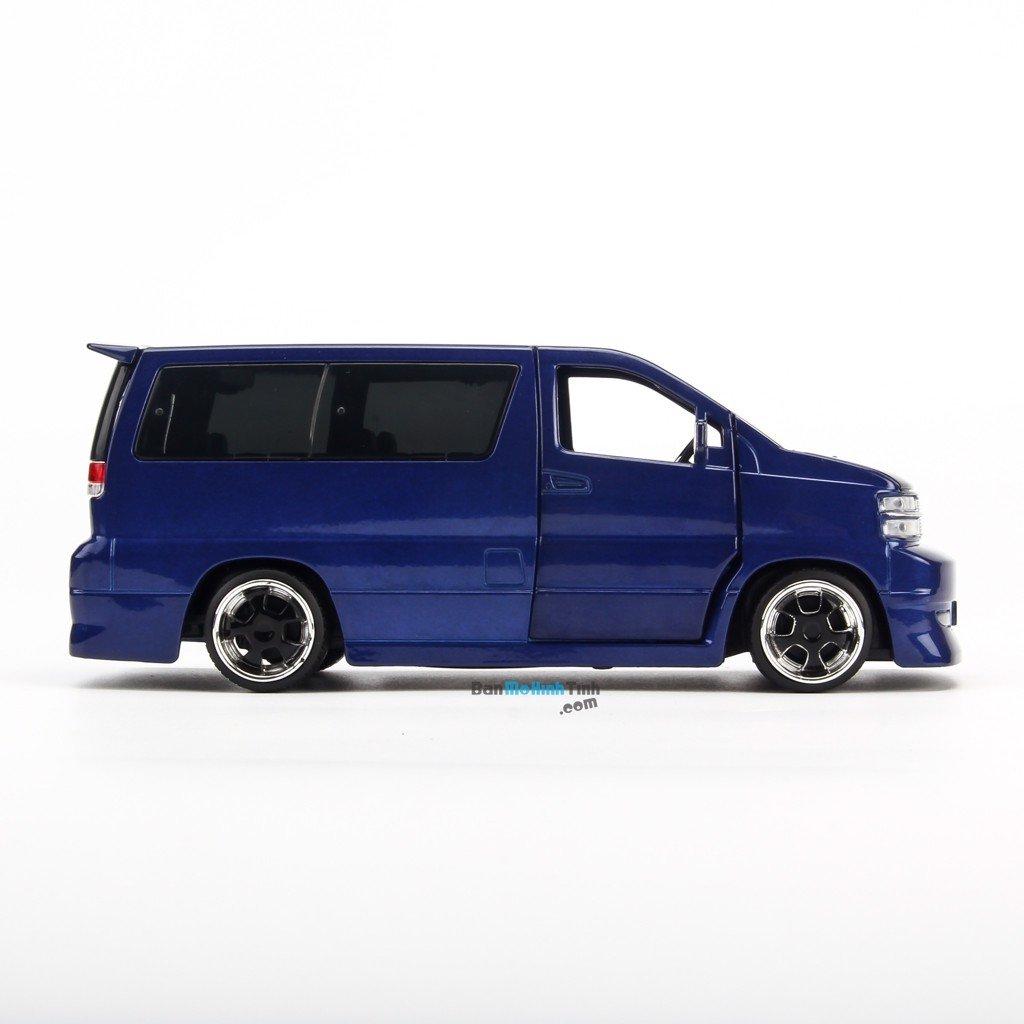 Mô hình xe Nissan Fabulous APE50 Elgrand Blue 1:32 Jackiekim