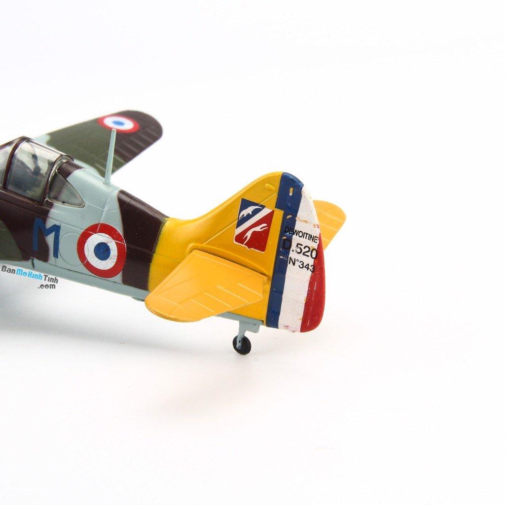 Mô hình máy bay quân sự Dewoitine D520 1941 France 1:72 Amer