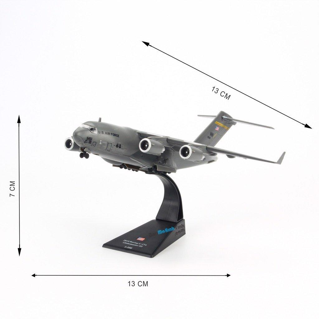 mô hình máy bay quân sự C-17 Glomaster III 1:200 Amer