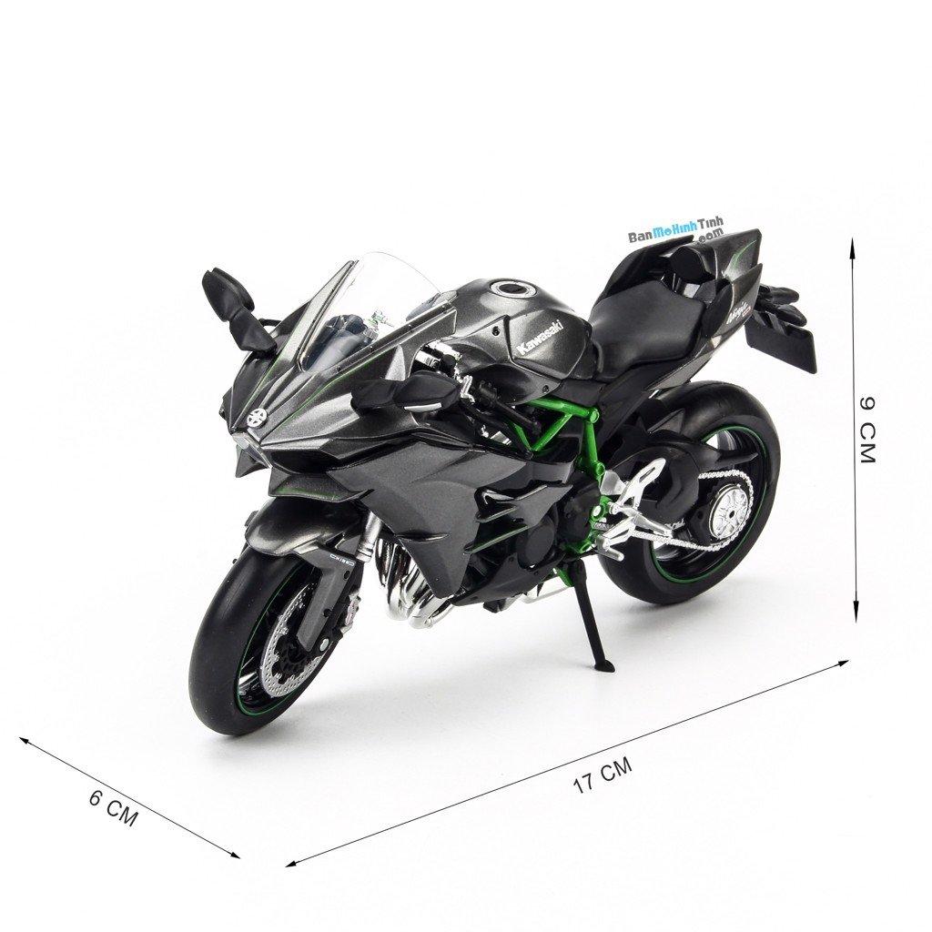 Mô hình xe mô tô Kawasaki H2 Black 1:12 Joycity