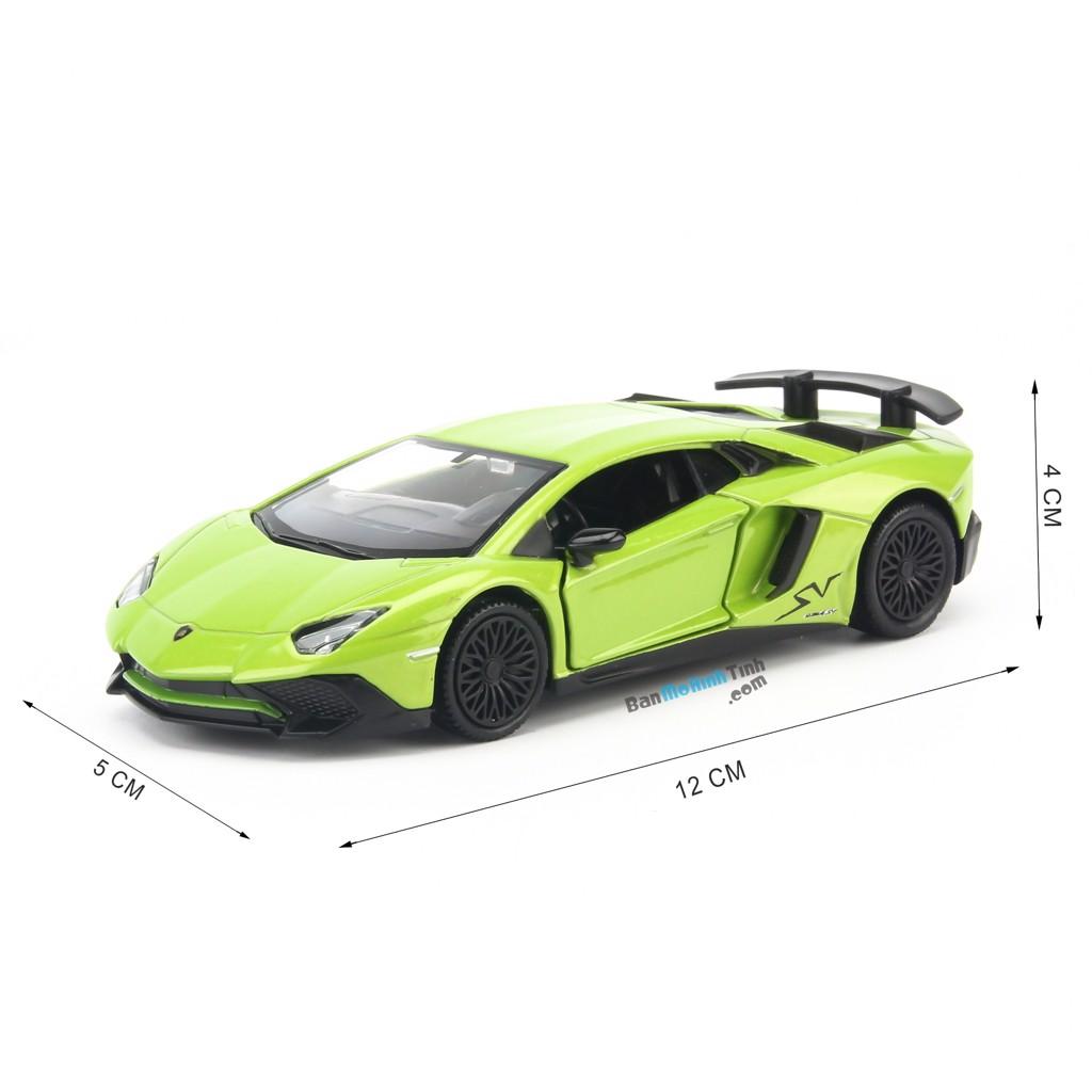 Mô hình xe Lamborghini Aventador LP750-4 SV Green 1:36 UNI