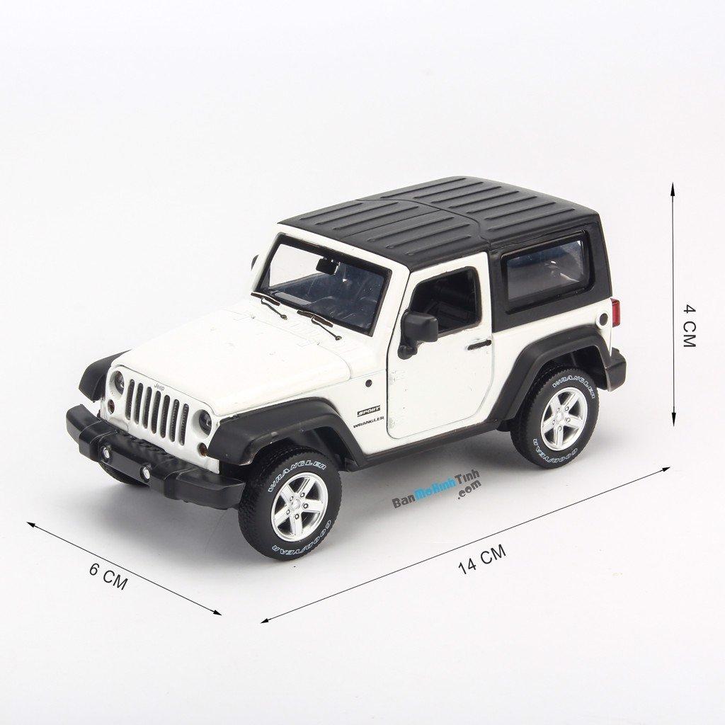 Mô hình xe Jeep Wrangler Rubicon White 1:32 UNI