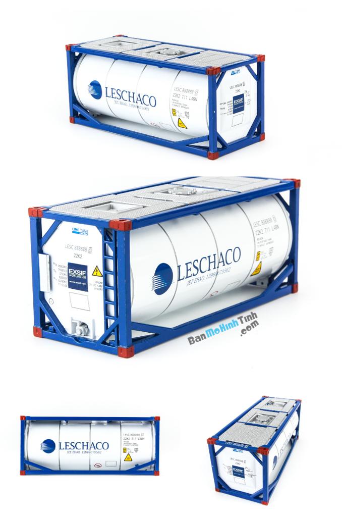 Mô hình container Leschaco - Tank White 1:50 Dealer chất lượng nhất việt nam