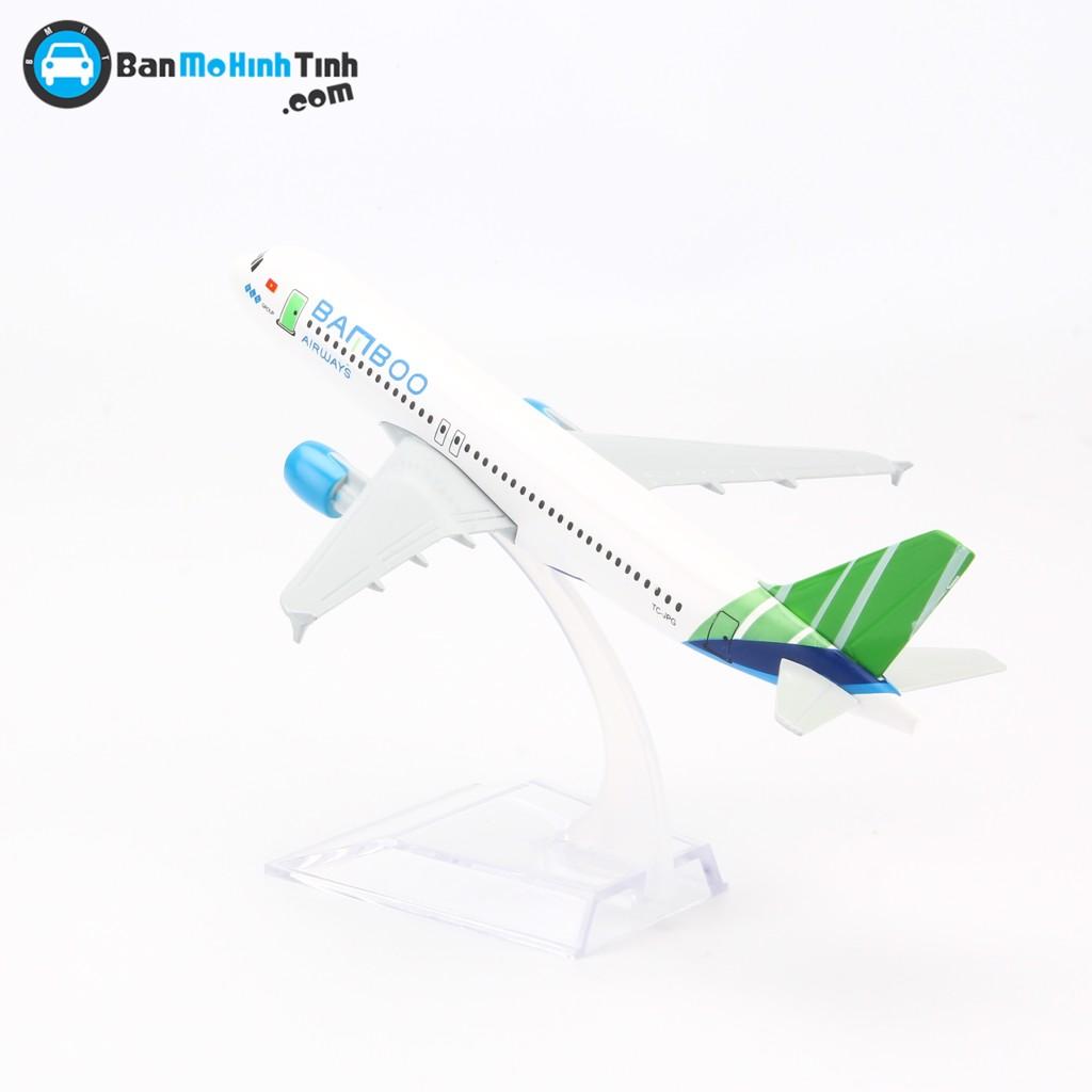 Mô hình máy bay Airbus A320 Bamboo Airlines Everfly 16cm - V&G 0945