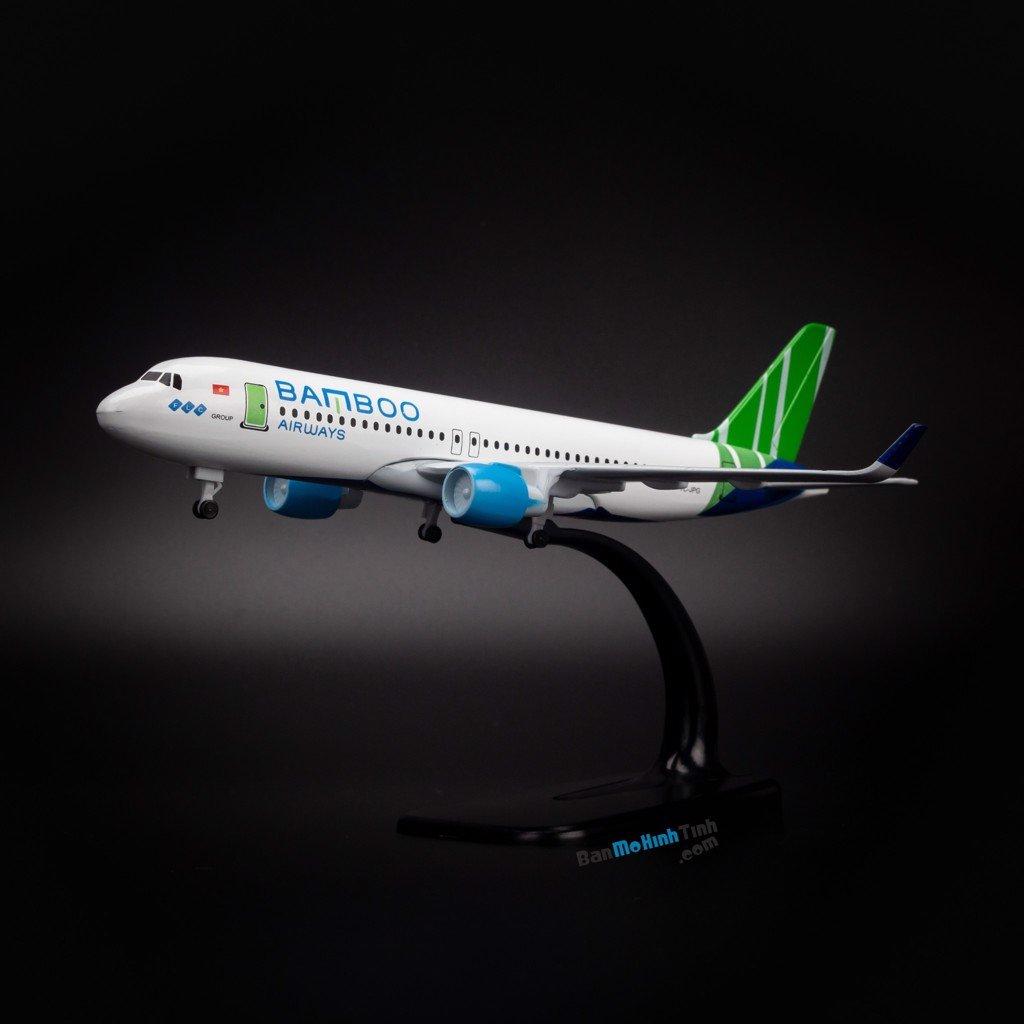 Mô hình máy bay Bamboo Airways Airbus A320 20cm Everfly