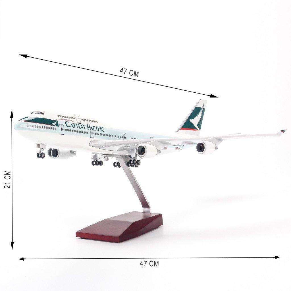 Mô hình máy bay lắp ráp có đèn led Cathay Pacific 47cm Everfly