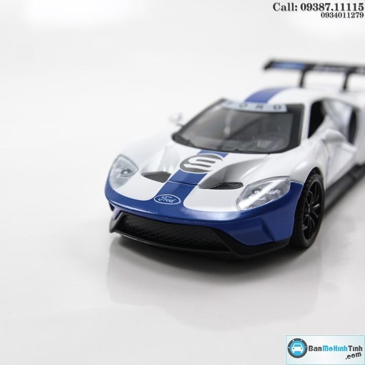 Mô hình xe ô tô FORD GT ECOBOOST 2017 WHITE 1:32 NEWAO