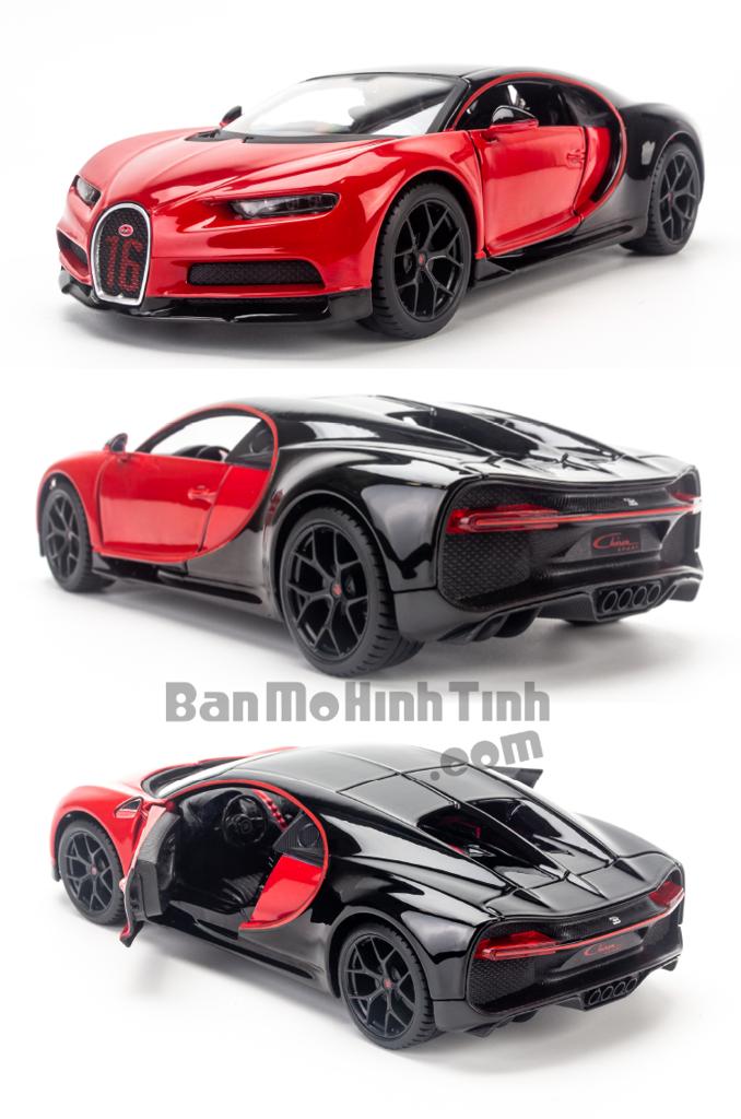 Mô hình siêu xe Bugatti Chiron Sport 16 1:24 Maisto Red