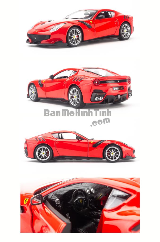 Mô hình xe Ferrari F12 TDF 1:24 Bburago Red
