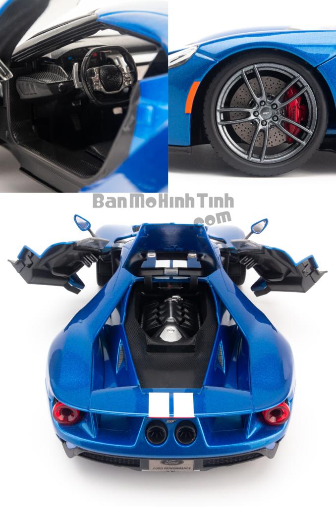 Mô hình xe Ford GT 1:18 Maisto Exclusive Blue