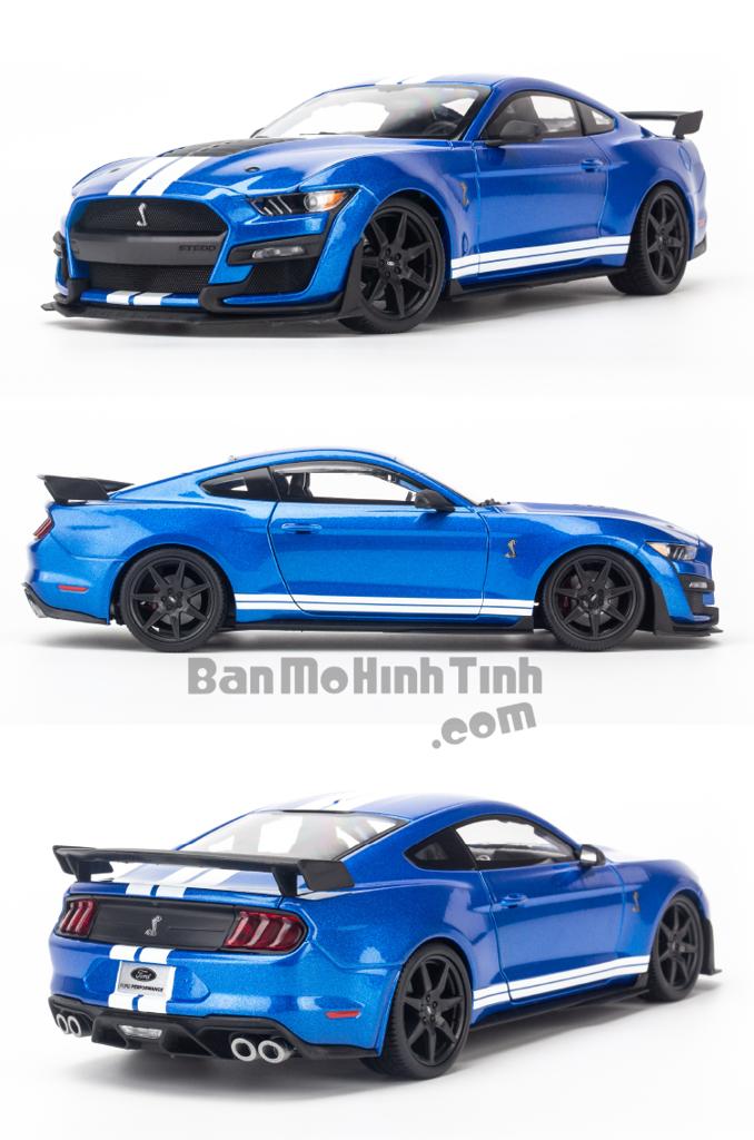 Mô hình xe Ford Mustang Shelby Cobra GT500 1:18 Maisto Blue