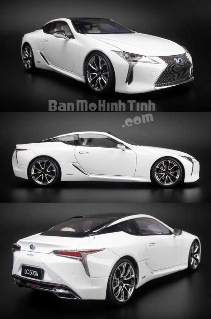 Mô hình xe Lexus LC500h 1:18 Dealer White