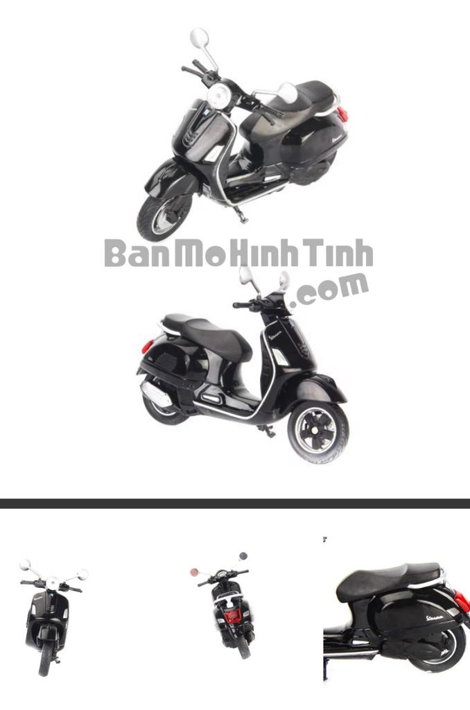 mô hình xe máy vespa gts 125cc 2017 1:18 welly black
