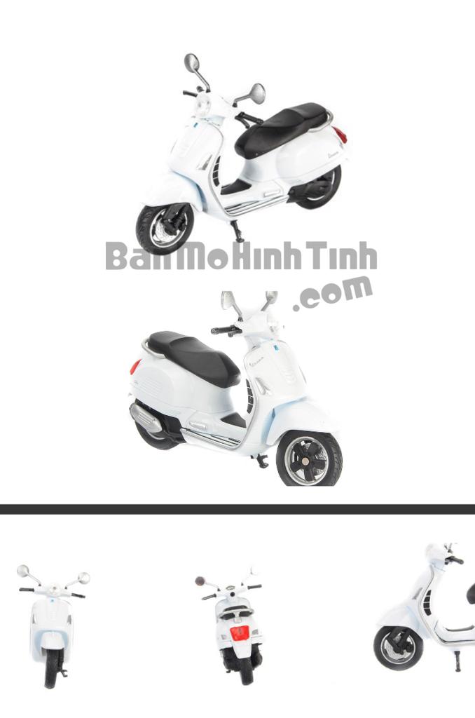 mô hình xe máy vespa gts 125cc 2017 1:18 white