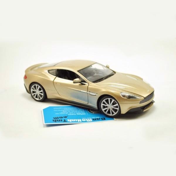 mô hình siêu xe aston martin vanquish 1:24 welly gold