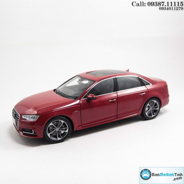 Mô hình xe Audi A4 All New 2017 Sedan Red 1:18 Dealer