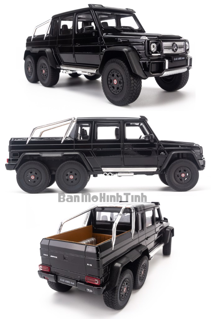 Mô hình xe Merceces-Benz G63 AMG 6x6 1:24 Welly Black
