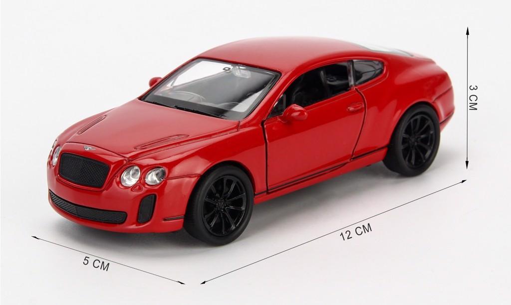 Mô hình xe Bentley Continental Supersport 1:36 Welly Red