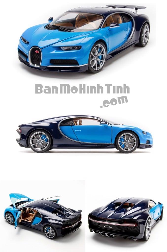 Mô hình xe Bugatti Chiron Blue 1:18 GTAutos
