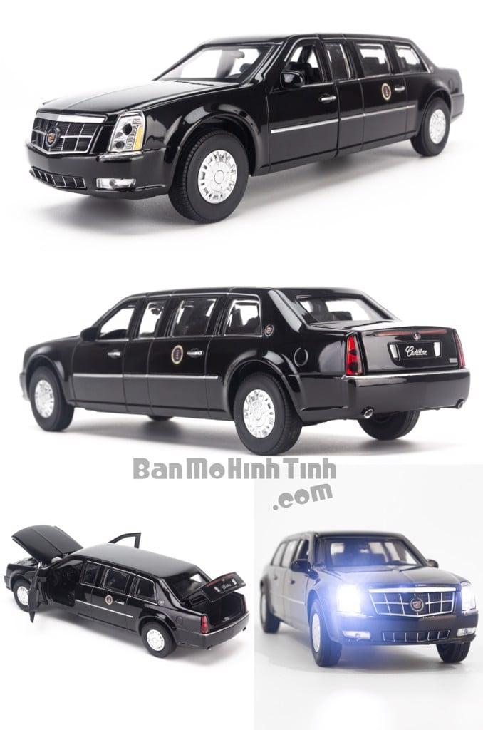 Mô hình xe Cadillac the Beast USA President 1:32 Shenghui Black