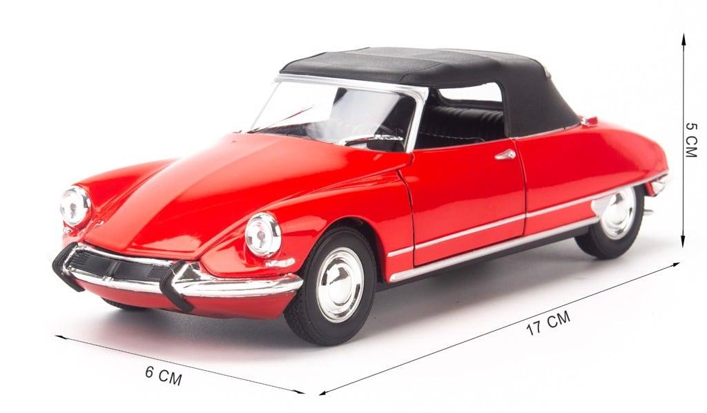 Mô hình xe Citroen DS 19 Cabriolet 1:24 Welly Red