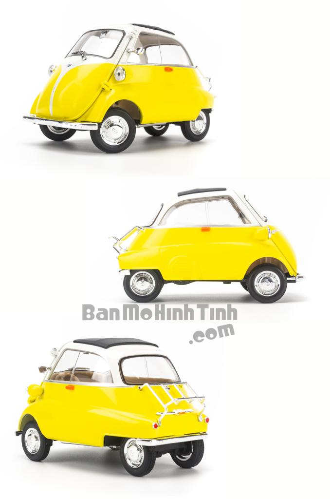 Mô hình xe cổ BMW Isetta 1:18 Welly Yellow