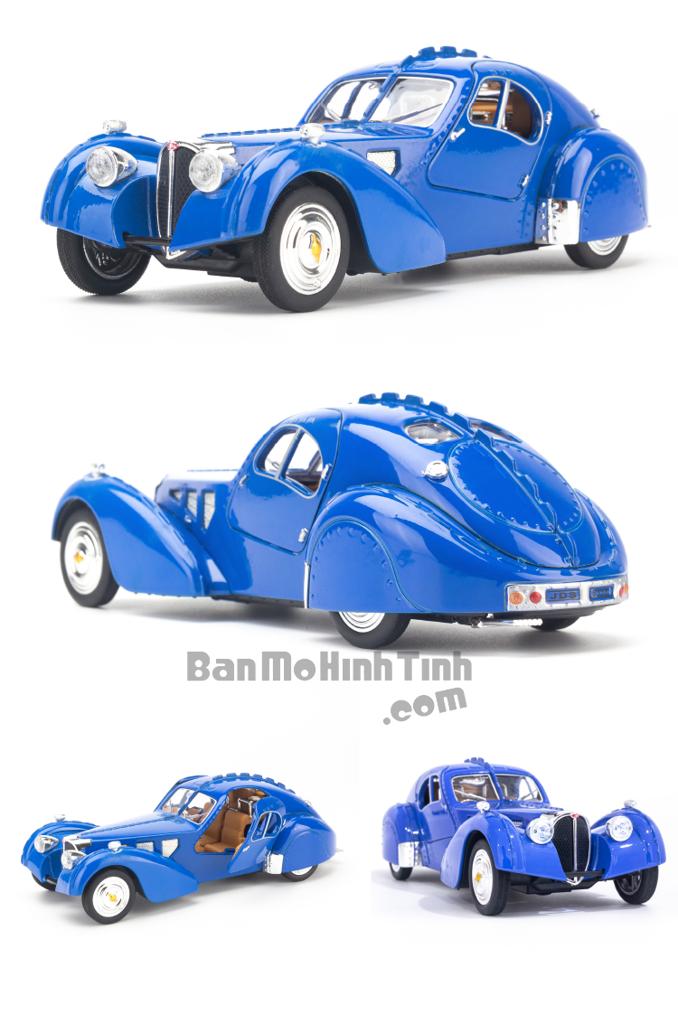 Mô hình xe Bugatti Type 57SC 1:32 KHPO Blue