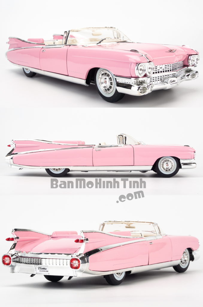 Mô hình xe cổ Cadillac Eldorado Biarritz 1959 1:18 Maisto Pink
