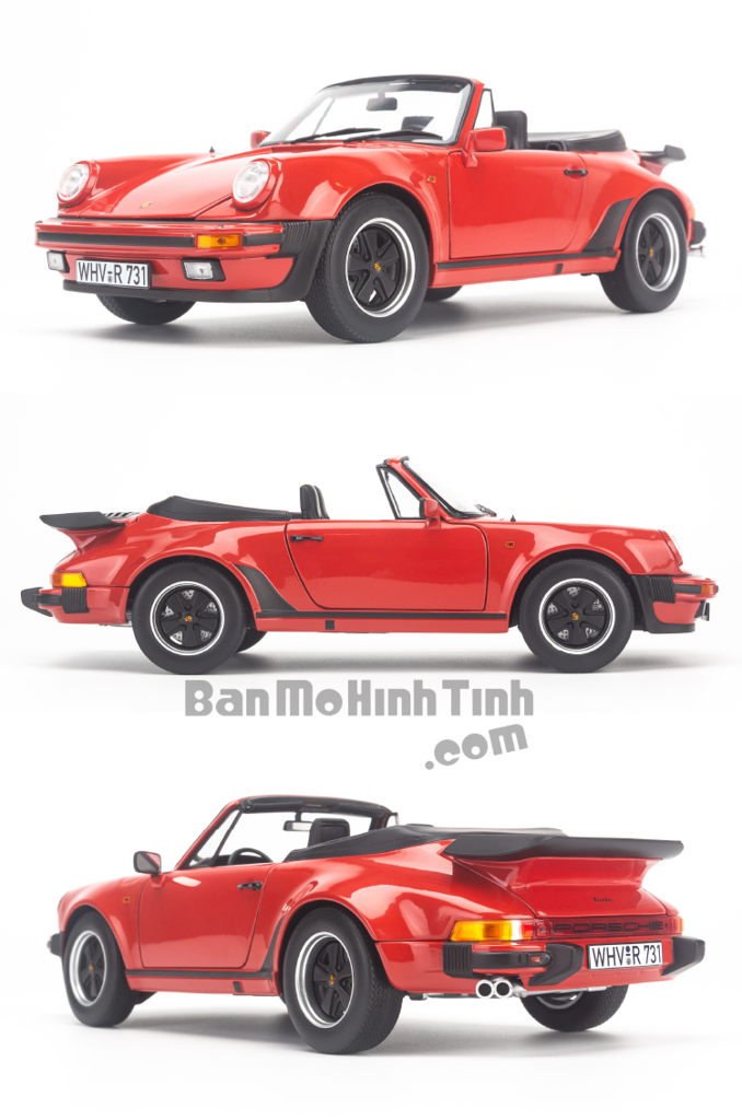 Mô hình xe cổ Porsche 911 Turbo Cabriolet 1987 1:18 Norev Red