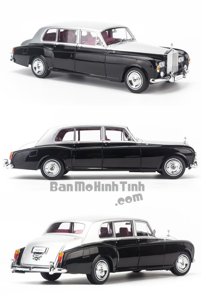 Mô hình xe cổ Rolls Royce Phantom VI 1:18 Kyosho Black-Silver