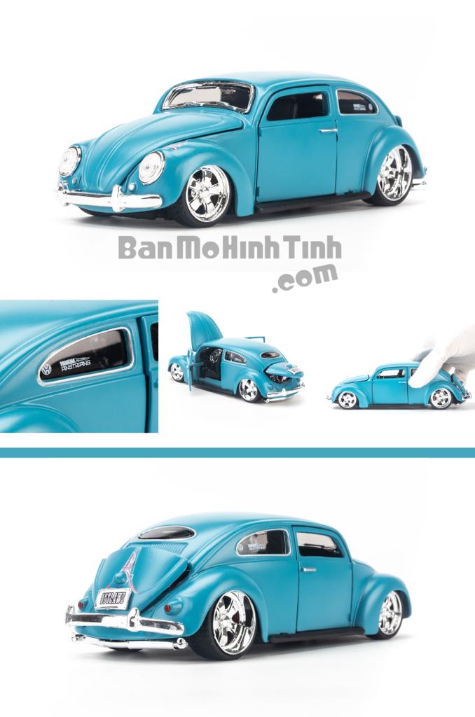 Mô hình xe cổ Volkswagen Beetle 1:24 Maisto Outlaws Blue