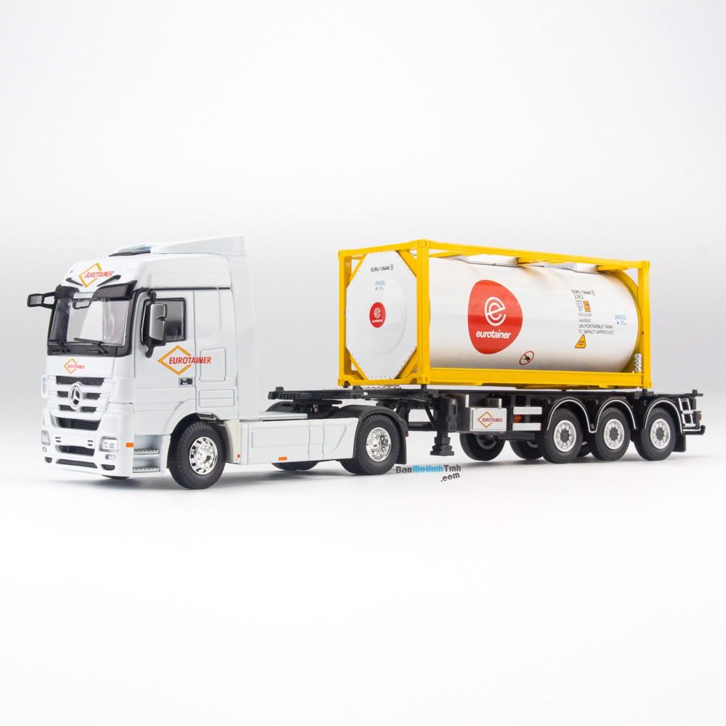 Mô hình xe Container Mercedes-Benz ISO Tank Ctank White 1:50 Dealer giá rẻ nhất việt nam