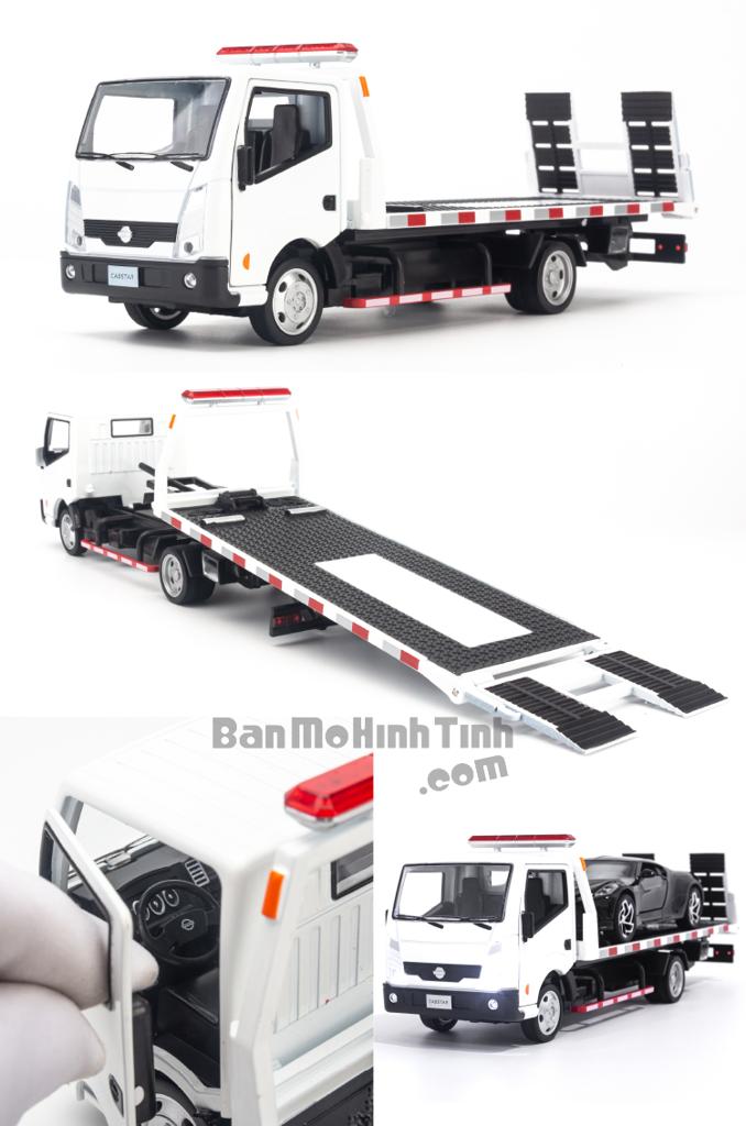 Mô hình xe cứu hộ Nissan Cabstar Truck 1:32 Dealer White
