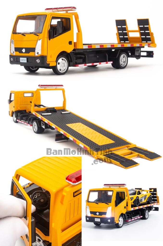 Mô hình xe cứu hộ Nissan Cabstar Truck 1:32 Dealer Yellow